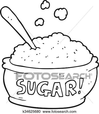 black and white cartoon sugar bowl clipart k34625680 fotosearch https www fotosearch com csp819 k34625680