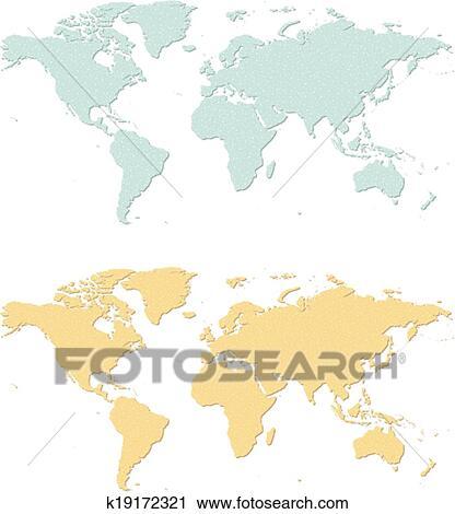 Karte Erde.Erde Karte Clipart
