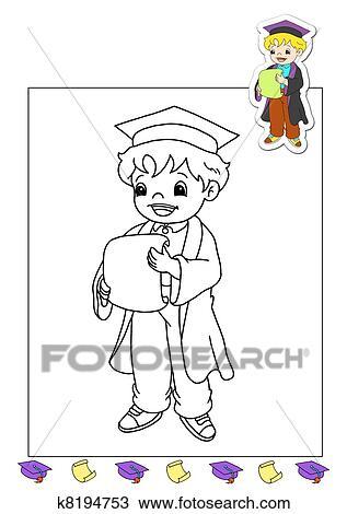 Dibujo - libro colorear, de, el, trabaja, -, abogado k8194753 ...