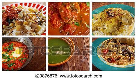 Banque D Images Nourriture Ensemble Africaine Traditionnel