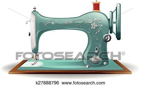 Sewing Machine Clip Art K27888796 Fotosearch