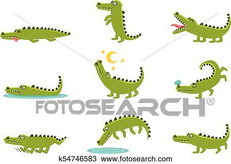 Sourire amical crocodile dessin anim caract re et sien journalier fauve activit s - Dessin anime les crocodiles ...
