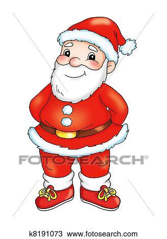 Uno Sportivo Babbo Natale Disegno K8191073