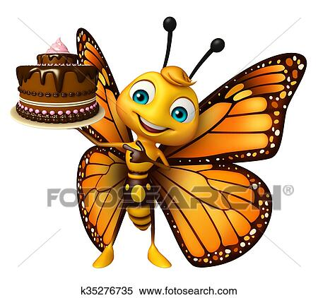 かわいい 蝶 漫画 特徴 で ケーキ イラスト K35276735
