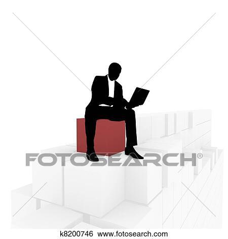 シルエット の A ビジネスマン イラスト K8200746 Fotosearch
