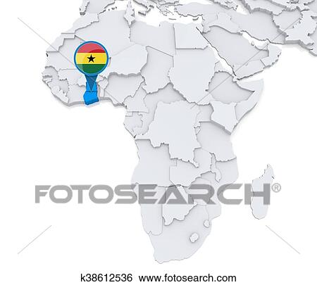 map of africa ghana Ghana On A Map Of Africa Stock Illustration K38612536 Fotosearch map of africa ghana