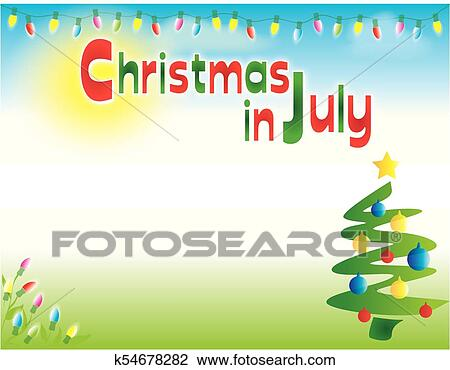 Christmas In July Clipart.Christmas In July Background Template Horizontal Clipart