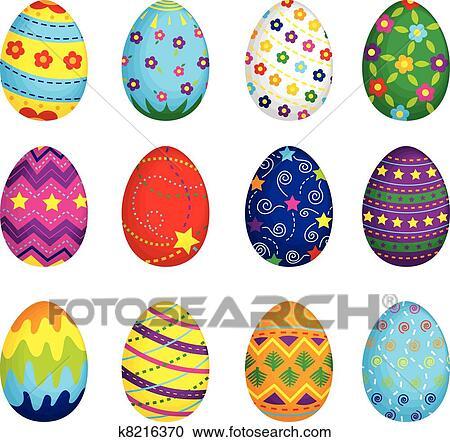 easter eggs clipart k8216370