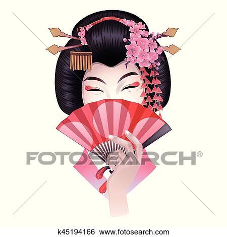 Coiffure Geisha Dessins De Daniel