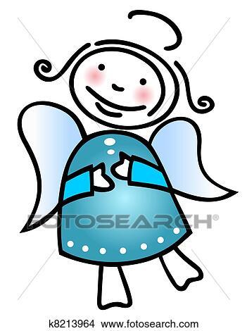 Disegni Natale Angelo K8213964 Cerca Illustrazioni Clipart