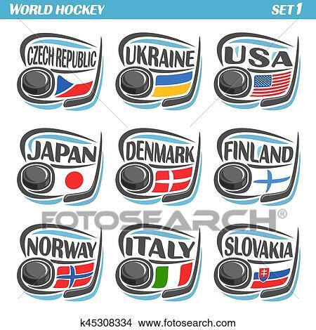 Clipart Vettore Set Bandiere Di Europeo Paesi K45308334