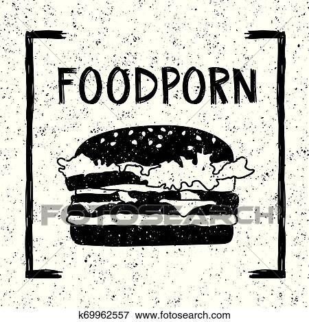 الطعام, porn, witn, burger, تصوير Clip Art | k69962557 | Fotosearch