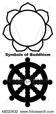 Clip Art Of Buddhist Lotus Flower K8222432 Search Clipart