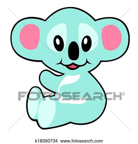 clipart of cartoon koala bear k18350734 search clip art rh fotosearch com baby koala bear clipart koala bear clipart outline