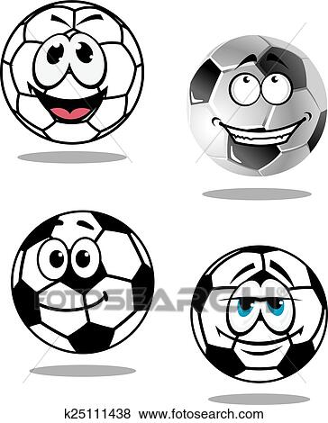 Clip Art Of Cartoon Soccer Or Football Characters K25111438 Search