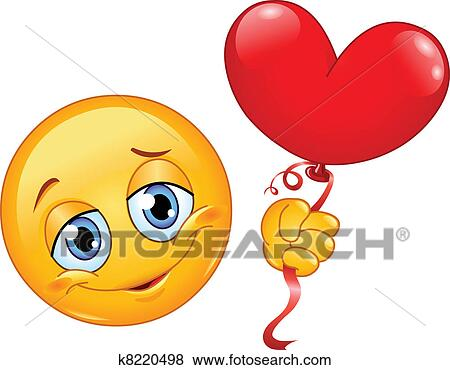 Clip art emoticon con cuore balloon k8220498 cerca for Clipart cuore