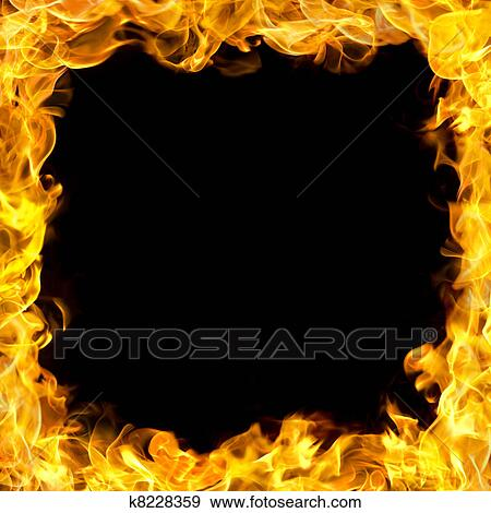 stock illustration of fire border with flames k8228359 search
