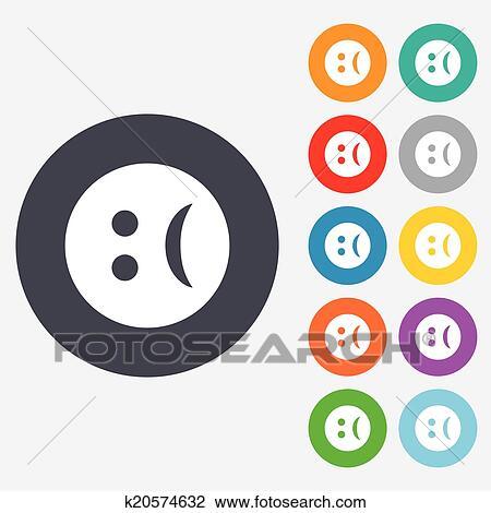 悲しい 顔 印 Icon 悲しさ シンボル クリップアート切り張り