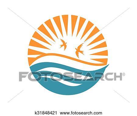 Beach Logo Clipart K31848421 Fotosearch