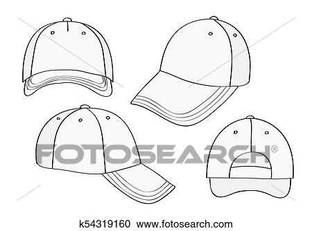 5c531acddcf Stock Illustrations of Blank Cap k54319160 - Search Clipart ...