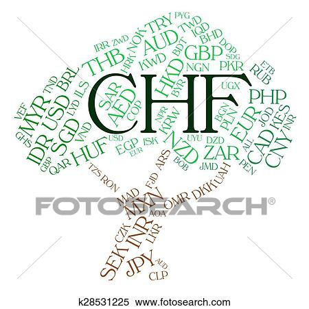 Stock Ilration Chf Currency Indicates Swiss Franc And Coin Fotosearch Search Clipart