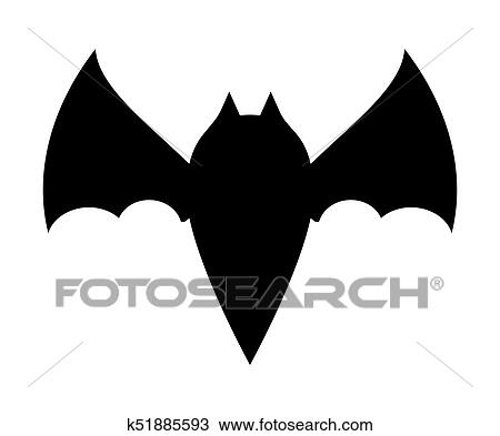 Halloween Bat Silhouette Vector Design Isolated On White Background Clipart K51885593 Fotosearch