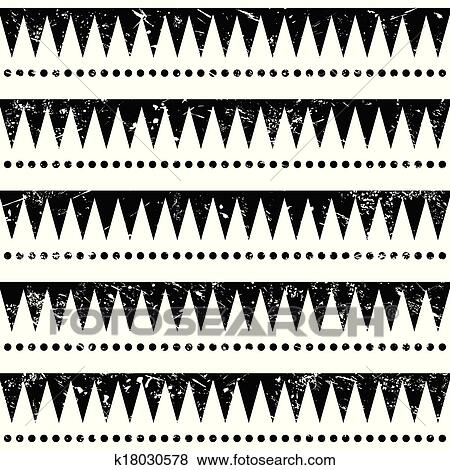 Clip Art Of Seamless Aztec Tribal Pattern K40 Search Clipart Awesome Aztec Tribal Pattern