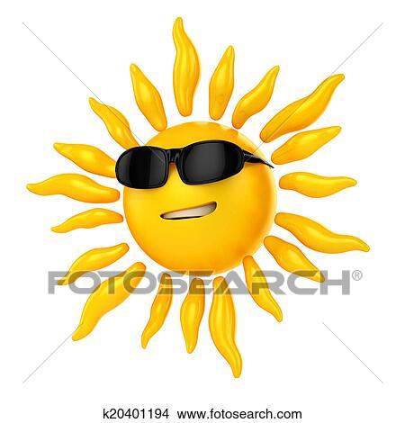 Disegni 3d sole con bicchieri sole k20401194 for Disegno 3d free