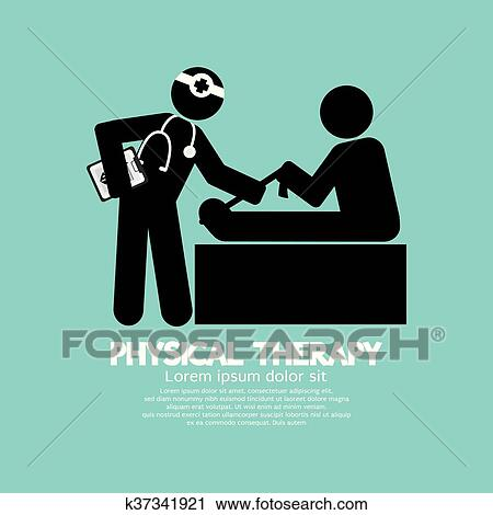 Clipart Of Black Symbol Physical Therapy K37341921 Search Clip