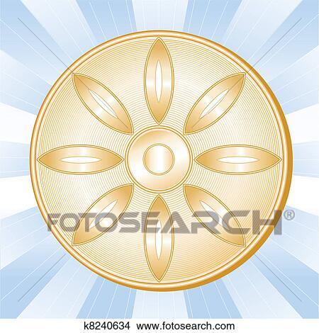 Bouddhisme, symbole, fleur de lotus Clipart | k8240634 | Fotosearch