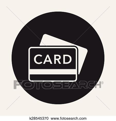 Clipart Of Credit Card Icon K28545370 Search Clip Art