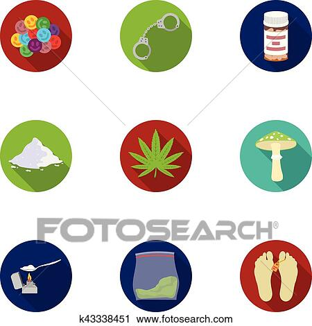 drugs set icons in flat style big collection of drugs vector symbol stock illustration clipart k43338451 fotosearch fotosearch