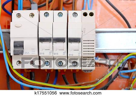stock images of electrical panel box with fuses and contactors rh fotosearch com