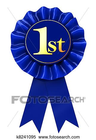 stock illustration of first place ribbon k8241095 search clipart rh fotosearch com first place rosette clipart first place medal clipart