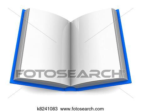 3d ilustracin de abierto libro encima fondo blanco