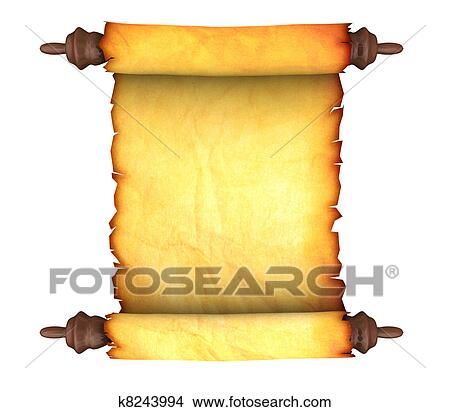 drawings of old paper scroll k8243994 search clip art