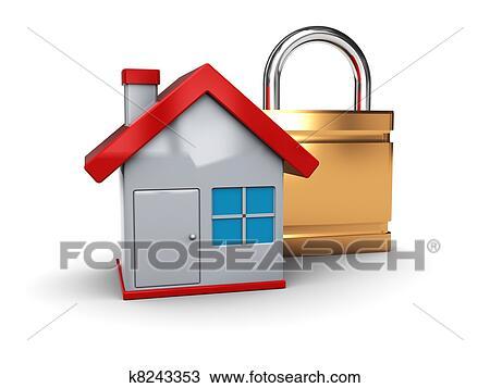 Disegno sicurezza casa k8243353 cerca clipart illustrazioni