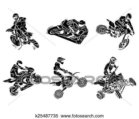 Clipart Moto Tatouage Collection K25487735 Recherchez Des Clip