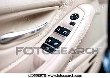 Bilder - auto, leder, innere, details, von, türgriff, mit, windows ...
