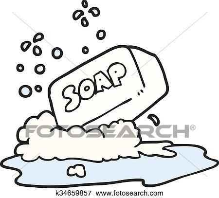 clip art of cartoon bar of soap k34659857 search clipart rh fotosearch com soup clip art free soup clip art