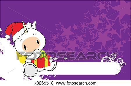 Clipart Licorne Bebe Dessin Anime Noel Backgroun K8265518