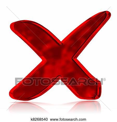 Red Cross Mark Symbol Clipart