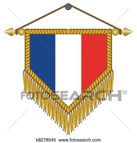 ベクトル 優勝旗 で 旗 の フランス クリップアート切り