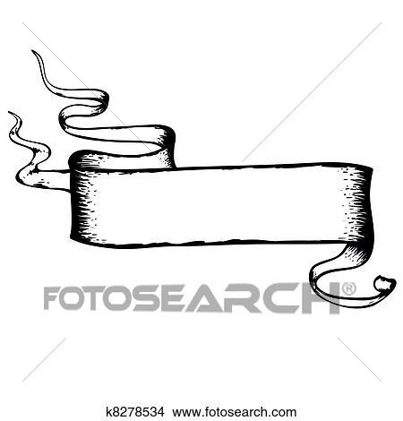 Dessin Ruban clipart - dessin, ruban, dans, retro style, vecteur k8278534