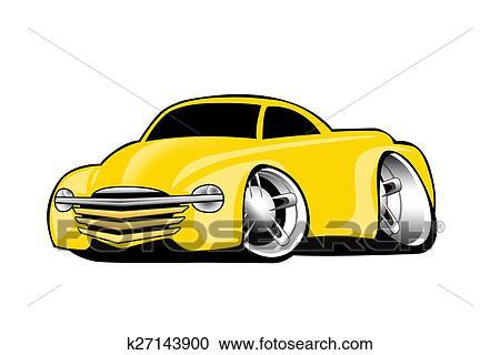 Modern American Yellow Pickup Clipart
