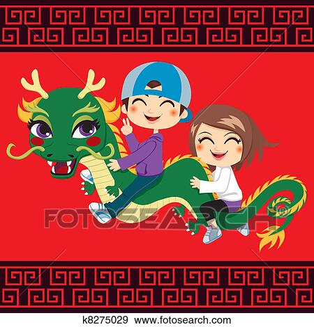 clip art new year dragon ride fotosearch search clipart illustration posters
