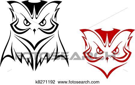 Owl mascot Clipart | k8271192 | Fotosearch