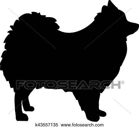 Pomeranian Silhouette Clipart
