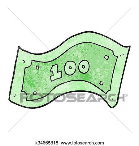 clip art of textured cartoon 100 dollar bill k34665818 search rh fotosearch com clipart 1000 dollar bill clipart 5 dollar bill