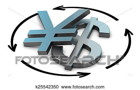 Stock Illustrations Of Usd Jpy Exchange Rate K25542350 Search